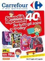 Carrefour Ipermercati - Spendi e Riprendi su Zaini e Trolley