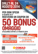 Conad Superstore - 50 Bonus Omaggio!