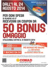 Conad - 50 Bonus Omaggio!