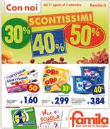 Famila - Scontissimi 30%, 40%, 50%