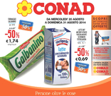 Conad - Tantissimi prodotti al 50%