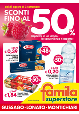 Famila Superstore - Sconti fino al 50%