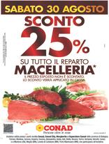 Conad - Sconto 25% sul reparto macelleria