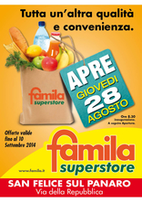 Famila Superstore - Nuova apertura a San Felice sul Panaro