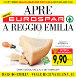Eurospar - Apre Eurospar a Reggio Emilia!