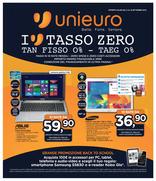 Volantino Unieuro - I love Tasso Zero