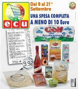 Volantino Ecu - Una spesa completa a meno di 10€