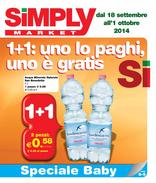 Simply Market - 1+1: uno lo paghi, uno è gratis