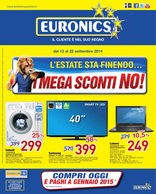 Volantino Euronics - L'estate sta finendo... i mega sconti no