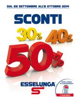 Esselunga - Sconti 30% 40% 50%