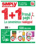 Simply Market - 1+1 Prendi2 paghi1!