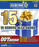 Volantino Euronics - 15% di sconto alla cassa