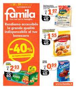 Famila - Sconto del 40% su tantissimi prodotti