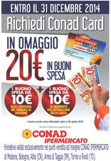 Conad Ipermercato - Richiedi Conad Card: avrai 20€ in buoni spesa