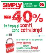 Simply Market - -40% Da Simply gli sconti sono extralarge!