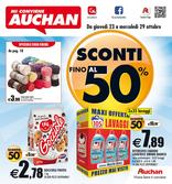 Auchan - Sconti fino al 50%