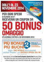 Conad Superstore - 50 bonus per ogni spesa da almeno 40€