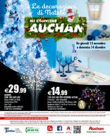 Volantino Auchan - Le decorazioni di Natale