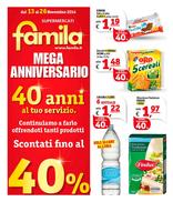 Famila - Mega Anniversario: 40 anni al tuo servizio
