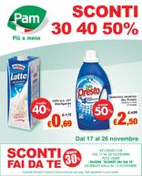 Pam - Sconti 30% 40% 50%