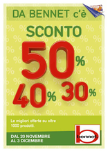 Bennet - Sconto 30% 40% 50%