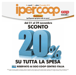 Ipercoop - Sconto del 20% su tutta la spesa