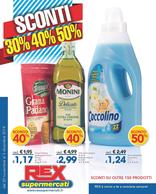 Rex supermercati - Sconti 30% - 40% - 50%