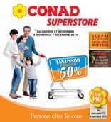 Conad Superstore - Tantissimi prodotti al 50%