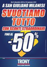 Trony - A San Giuliano Milanese svuotiamo tutto