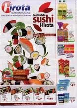 Hirota supermercados - Festival de sushi